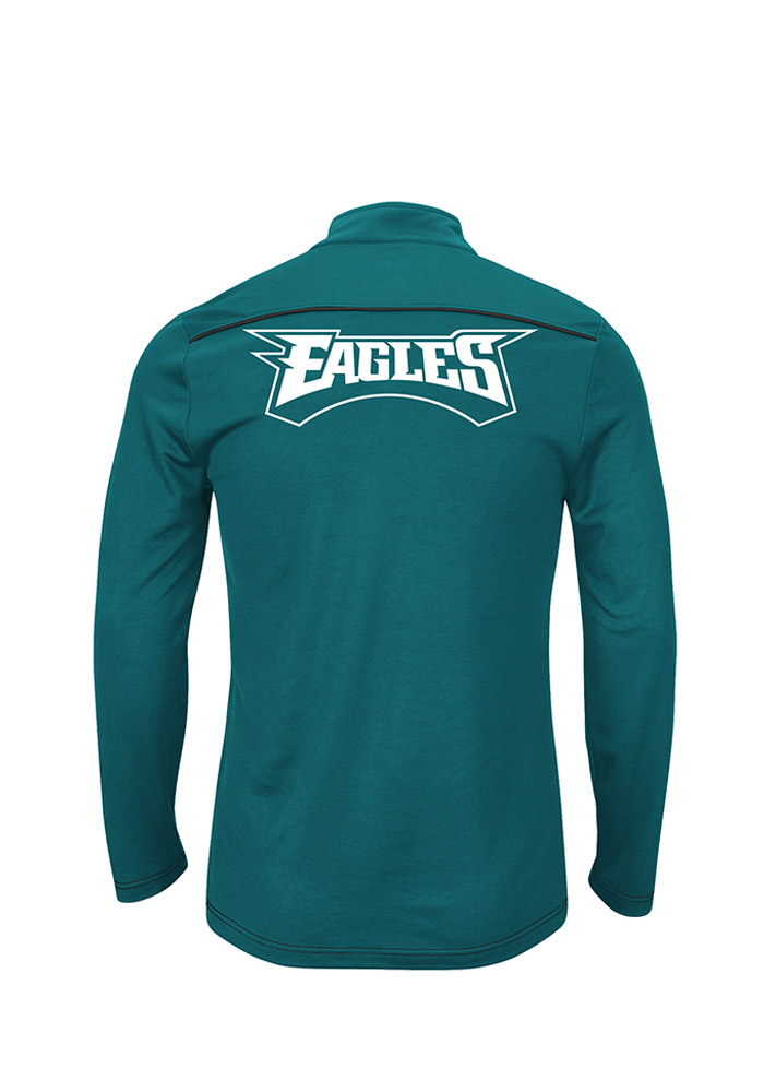 Philadelphia Eagles Mens Midnight Green 1/4 Zip Big and Tall 1/4 Zip Pullover - Image 2