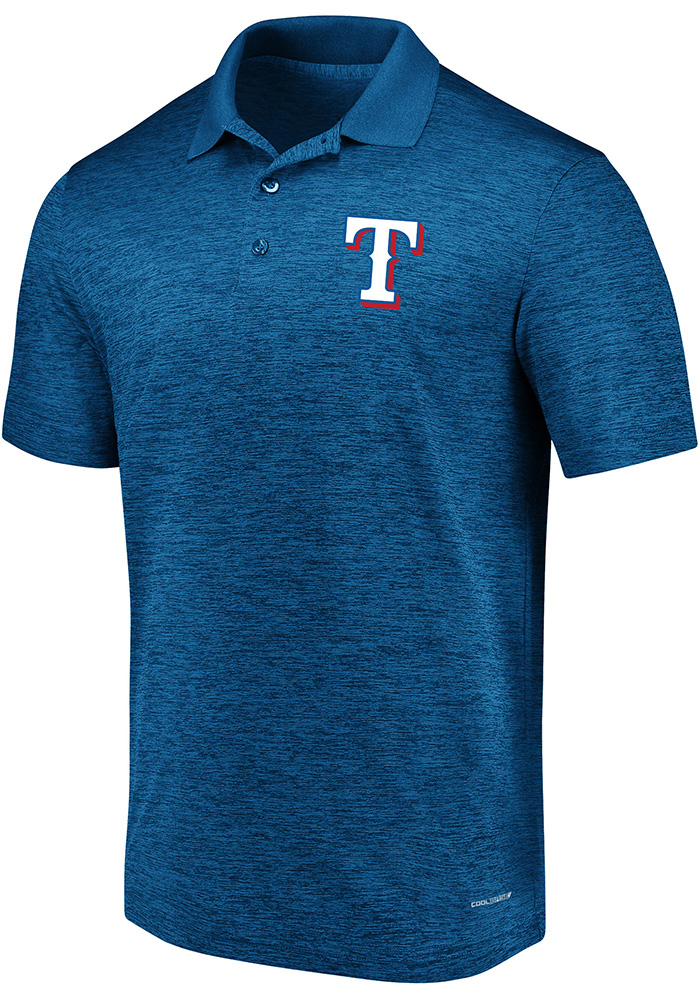 Texas Rangers Mens Blue Targeting Success Big and Tall Polos Shirt - Image 1