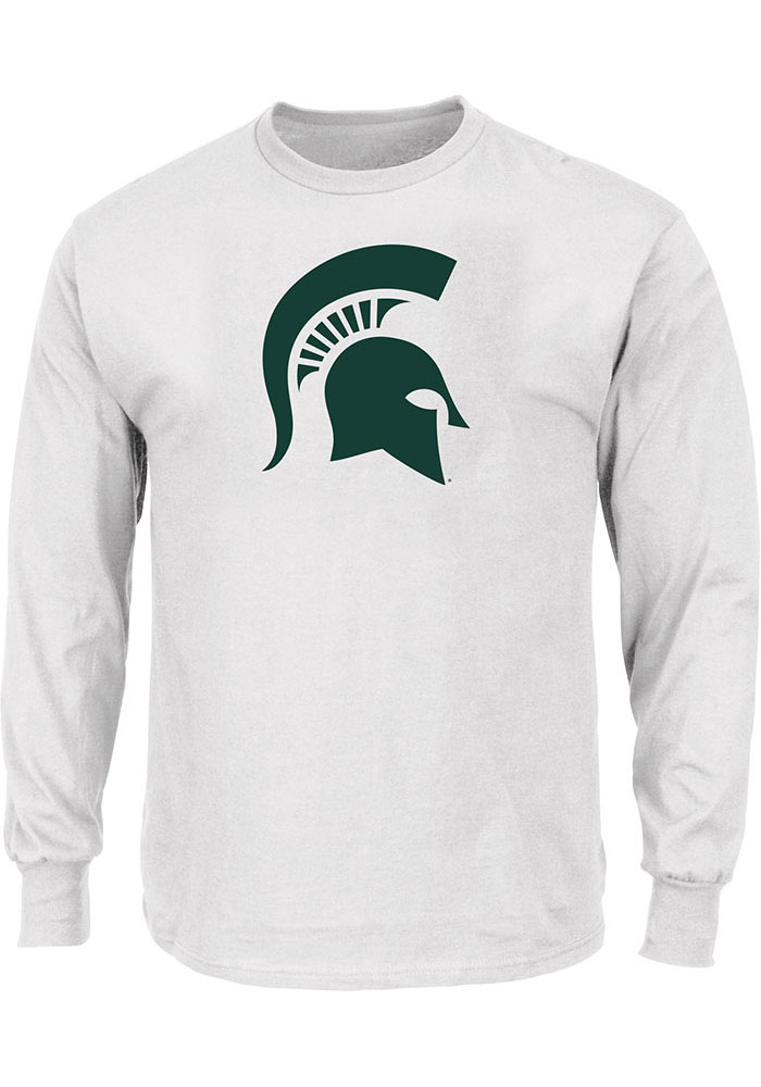 Michigan State Spartans White Primary Logo Long Sleeve T-Shirt