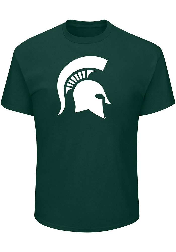 Michigan State Spartans Green Primary Logo T-Shirt