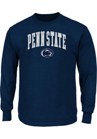 Penn State Nittany Lions Navy Blue Arch Mascot Long Sleeve T-Shirt