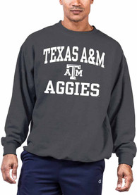 Texas A&M Aggies Number One Crew Sweatshirt - Charcoal