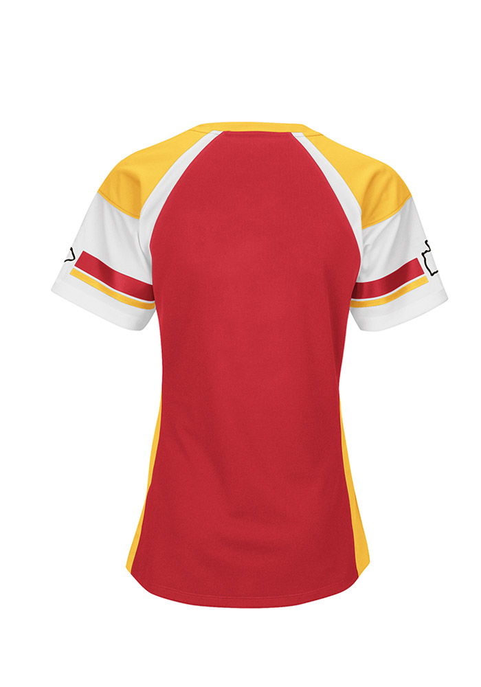 Kansas City Chiefs Juniors Red Her Drafted Football Jersey - Image 2