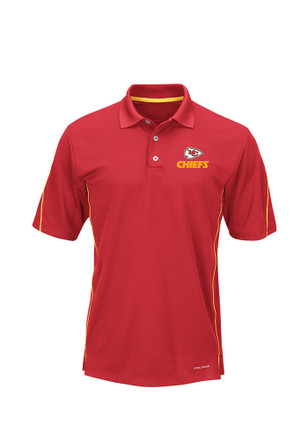 KC Chiefs Mens Red Synthetic Cool Base Short Sleeve Polo Shirt