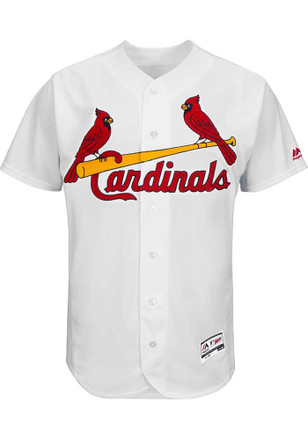 St Louis Cardinals Mens White Cool Base Big and Tall Jersey
