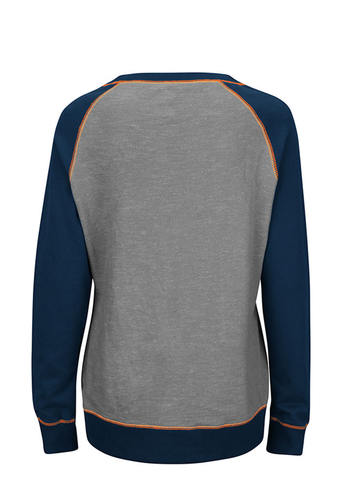 Chicago Bears Womens Grey O.T. Queen Long Sleeve Plus Size T-Shirt - Image 2