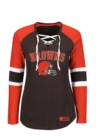 Cleveland Browns Womens Winning Style Brown Plus Size T-Shirt