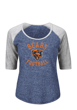 Chicago Bears Womens Like a Champion Navy Blue Plus Size T-Shirt