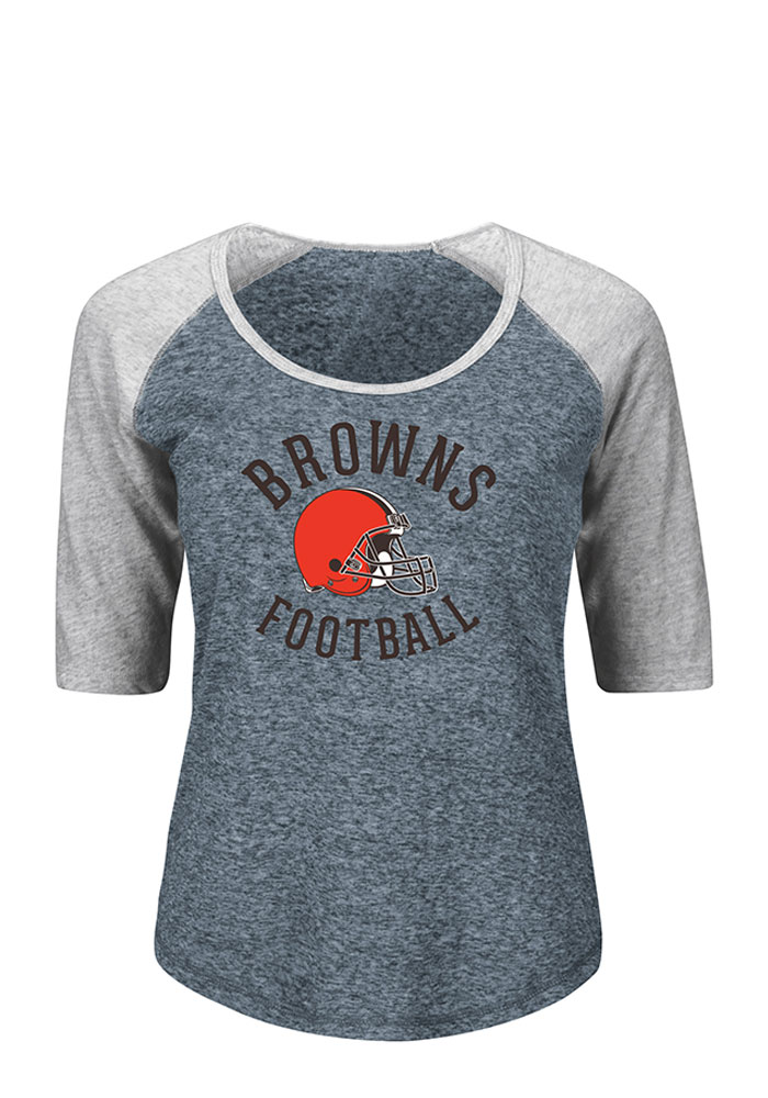 Cleveland Browns Womens Brown Like a Champion Long Sleeve Plus Size T-Shirt - Image 1