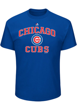 Chicago Cubs Mens Blue Heart and Soul T-Shirt