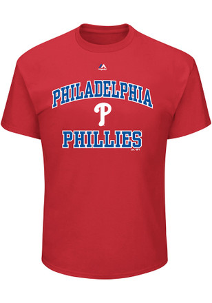 Philadelphia Phillies Mens Red Heart and Soul T-Shirt