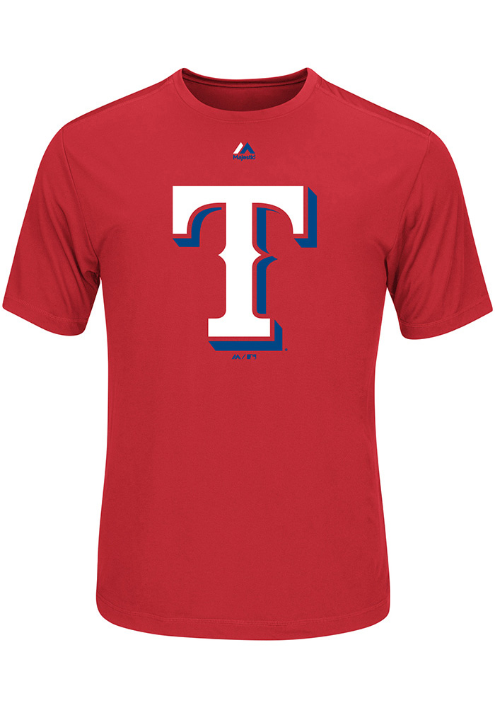 Texas Rangers Mens Red Official Logo Big and Tall T-Shirt - Image 1