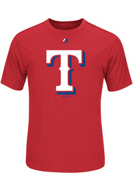 Texas Rangers Red Official Logo T-Shirt