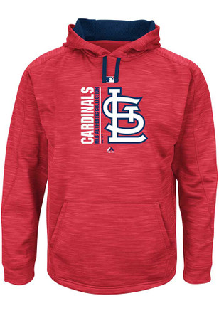 St Louis Cardinals Mens Red On-Field Tech Hooded Sweatshirt