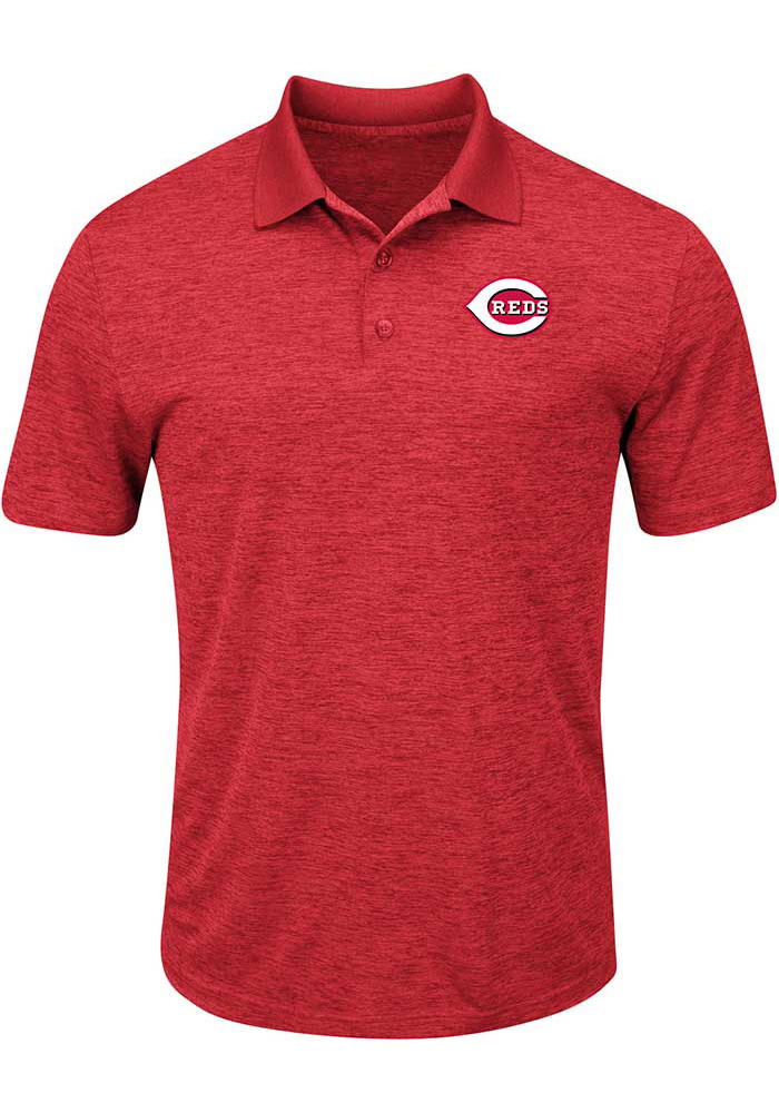 Cincinnati Reds Mens Red Hit First Big and Tall Polos Shirt - Image 1