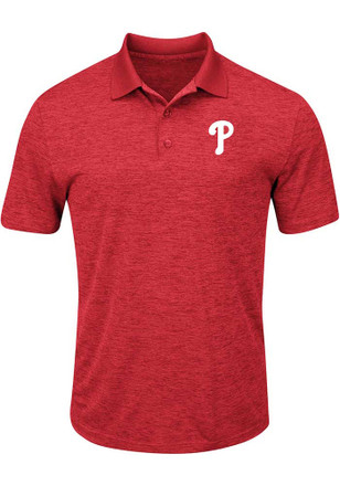 Philadelphia Phillies Mens Red Hit First Polos Shirt