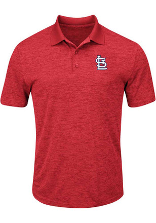 St Louis Cardinals Mens Red Hit First Polos Shirt