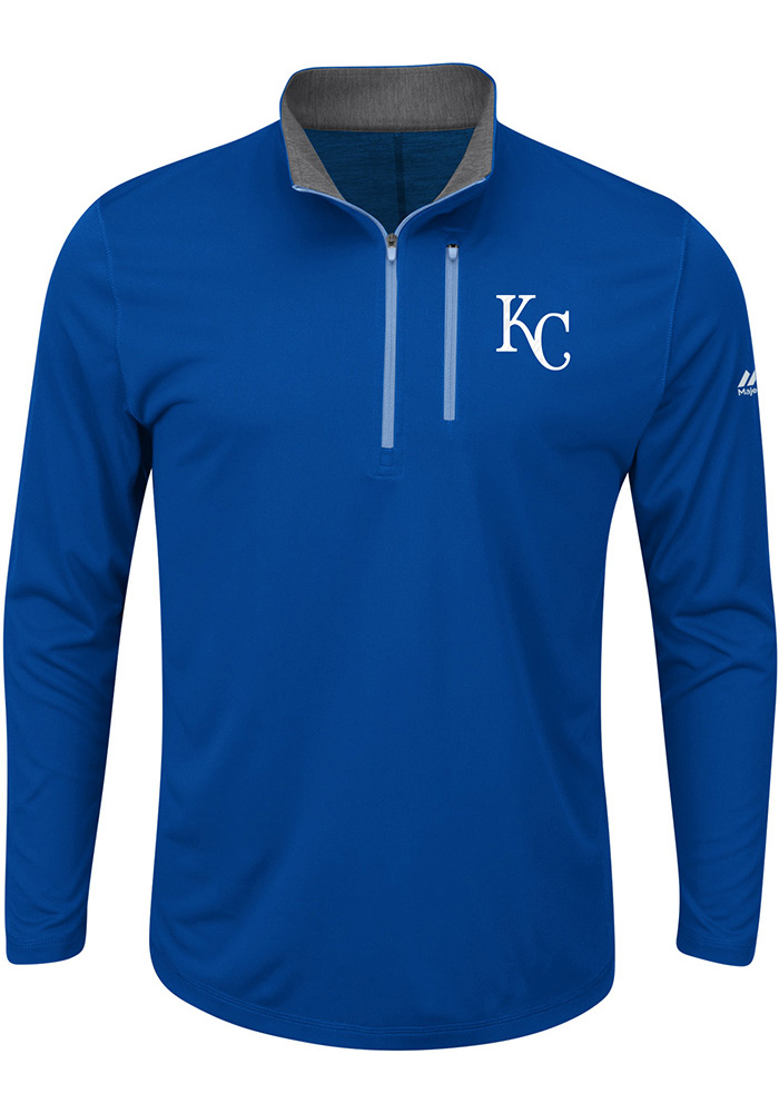 Kansas City Royals Mens Blue Six Four Three 1/4 Zip Pullover