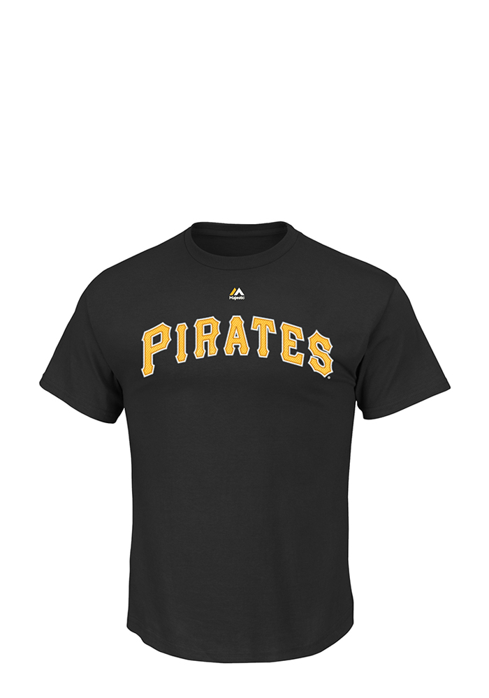 Pittsburgh Pirates Mens Black Wordmark Big and Tall T-Shirt - Image 1