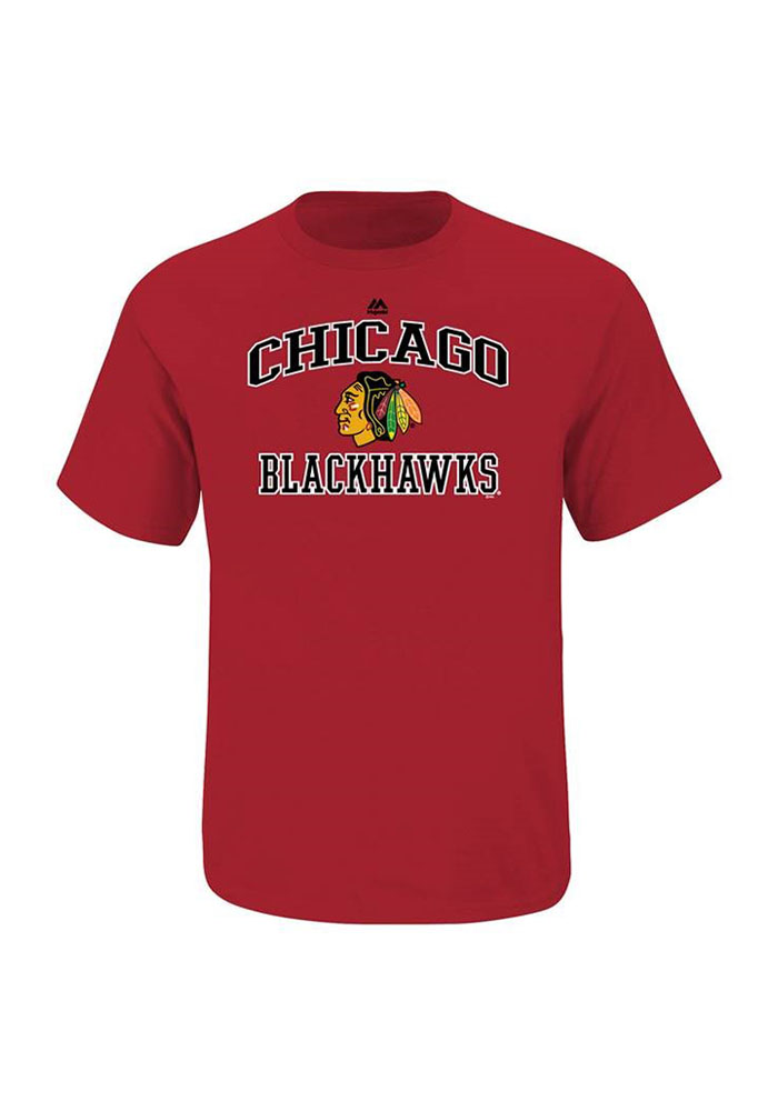 Chicago Blackhawks Mens Red Heart and Soul T-Shirt