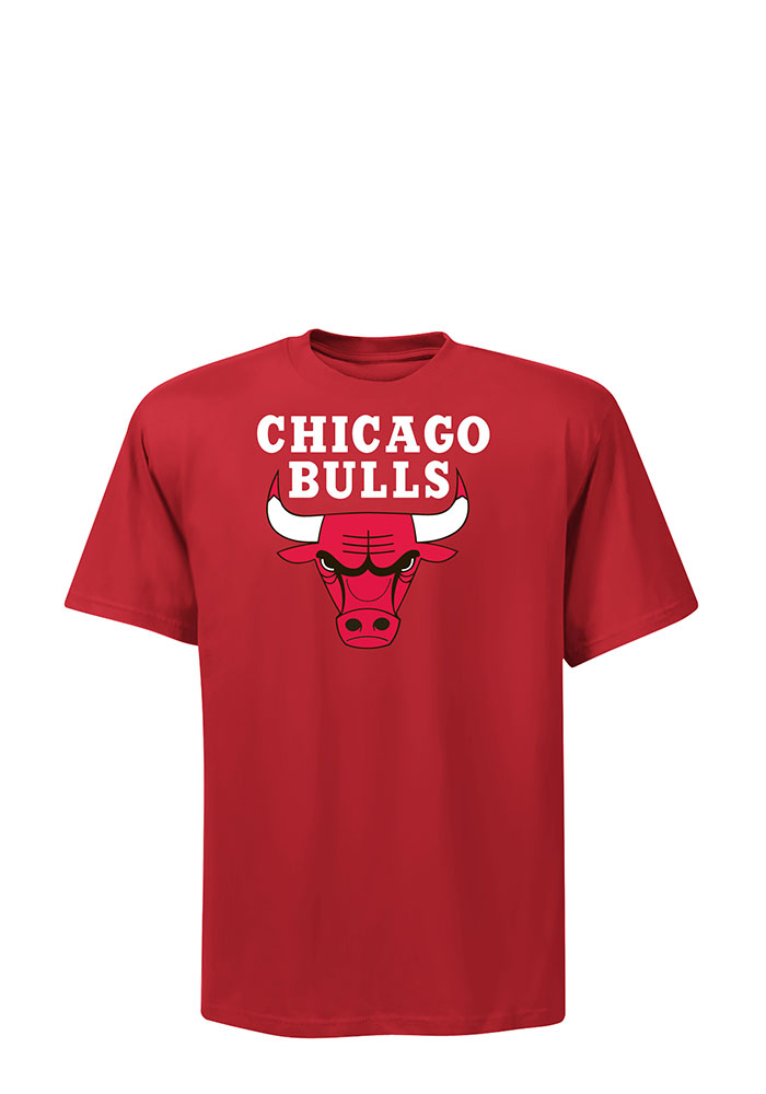 Chicago Bulls Mens Red Primary Logo Big and Tall T-Shirt - Image 1