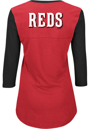 Cincinnati Reds Womens Above Average Red Plus Size T-Shirt
