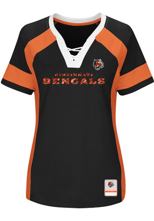 Cincinnati Bengals Womens Black Draft Me Plus Size Football Jersey