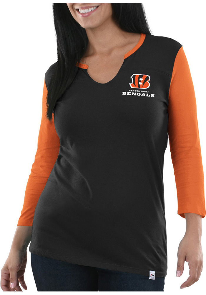 Cincinnati Bengals Womens Black Game Legend Long Sleeve Plus Size T-Shirt - Image 1