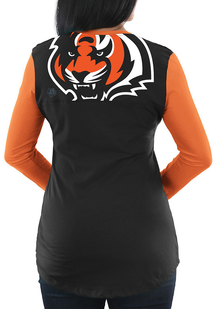Cincinnati Bengals Womens Black Game Legend Long Sleeve Plus Size T-Shirt - Image 2
