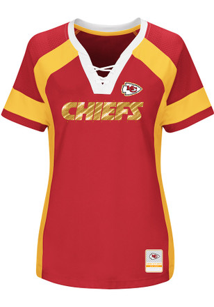 Kansas City Chiefs Womens Red Draft Me Plus Size Football Jersey