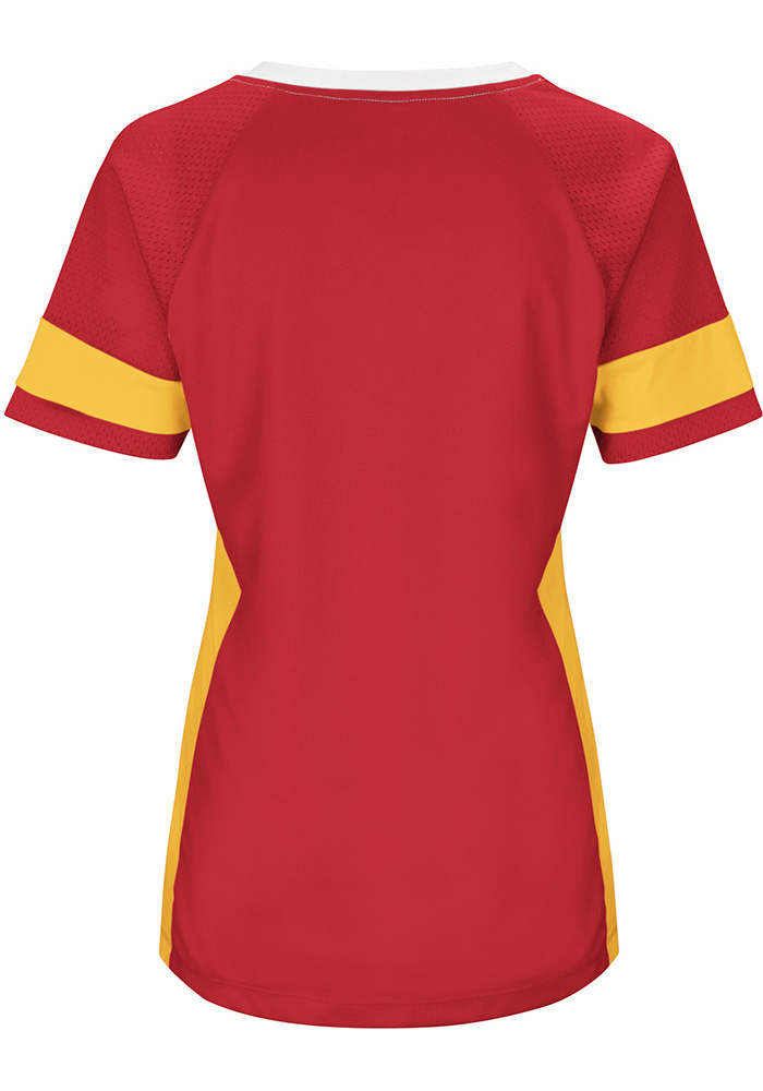 Kansas City Chiefs Womens Red Draft Me Plus Size Football Jersey - Image 2