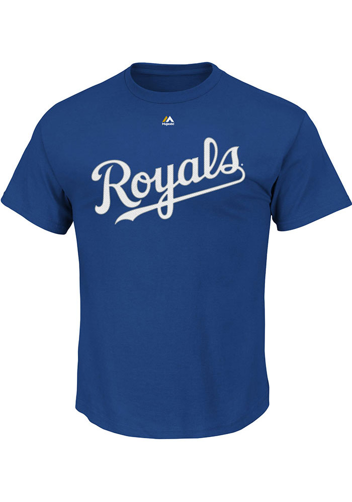 Kansas City Royals Mens Light Blue Wordmark Big and Tall T-Shirt - Image 1