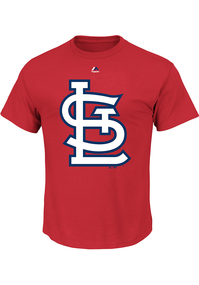 St Louis Cardinals Mens Red Team Big and Tall T-Shirt - Image 1
