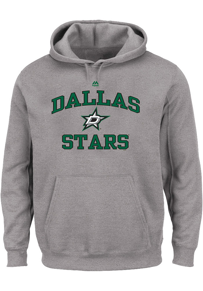 Dallas Stars Mens Grey Team Big and Tall Hooded Sweatshirt - Image 1