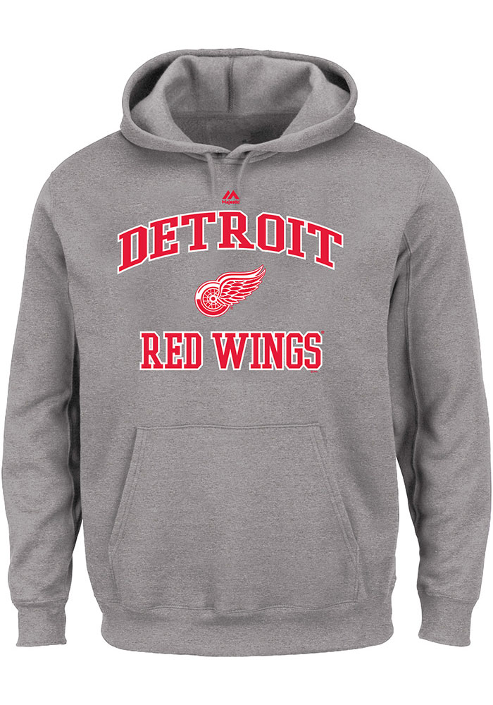 size 40 1f1cf a27b6 Detroit Red Wings Mens Grey Team Big and Tall Hooded ...