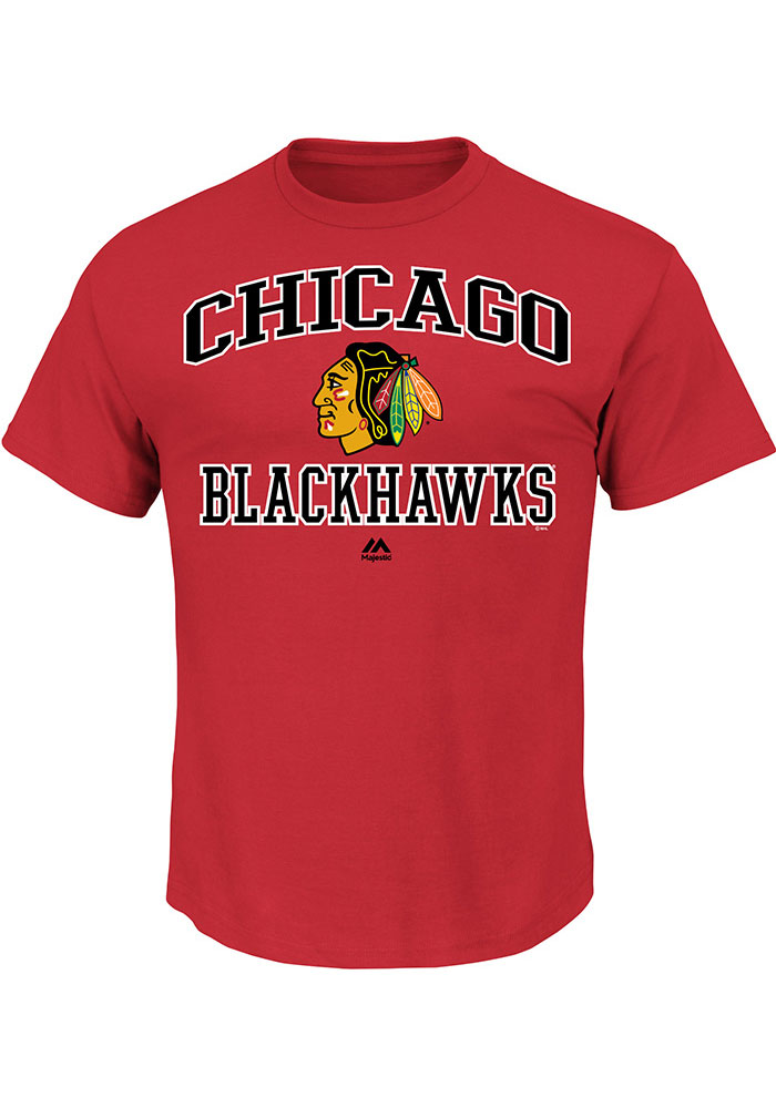 Chicago Blackhawks Mens Grey Heart & Soul Big and Tall T-Shirt - Image 1