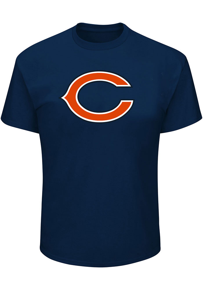 Chicago Bears Mens Navy Blue Team Big and Tall T-Shirt - Image 1