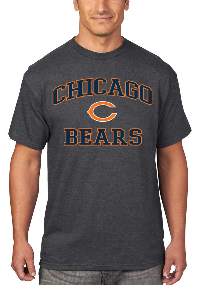 Chicago Bears Grey Heart Soul T-Shirt