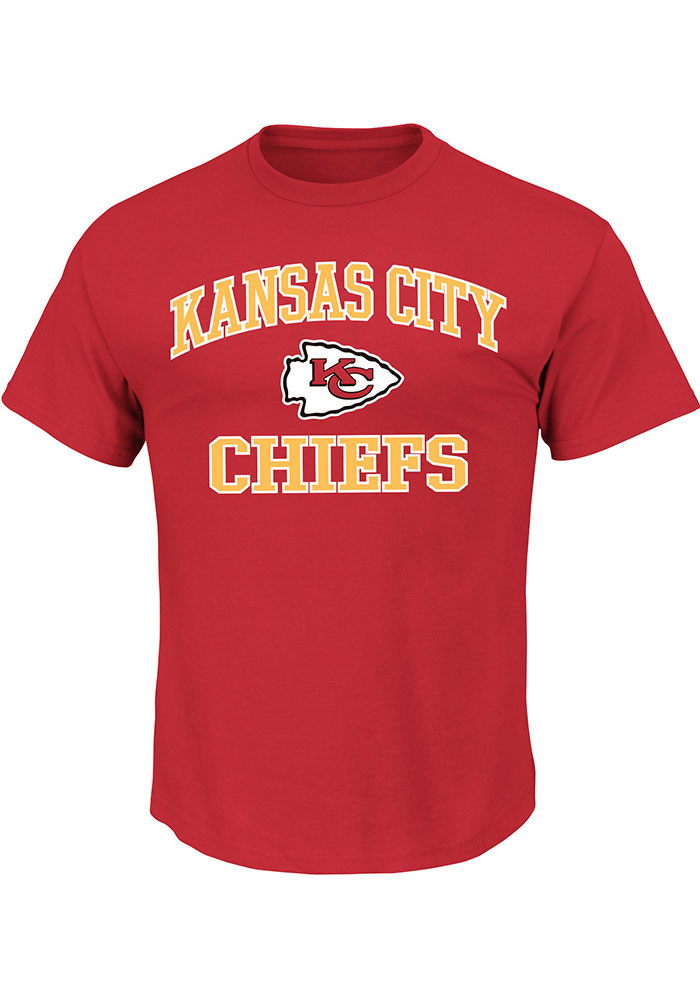 Kansas City Chiefs Mens Red Heart Soul Big and Tall T-Shirt - Image 1