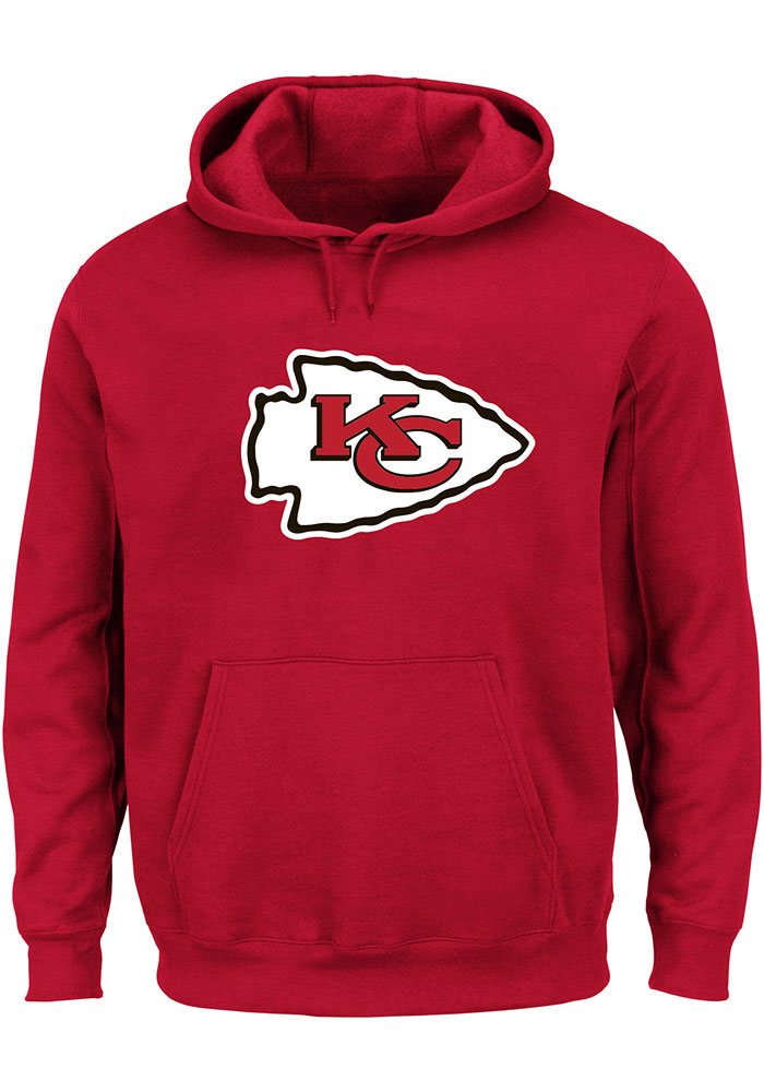 Kansas City Chiefs Mens Red Logo Big and Tall Hooded Sweatshirt - Image 1