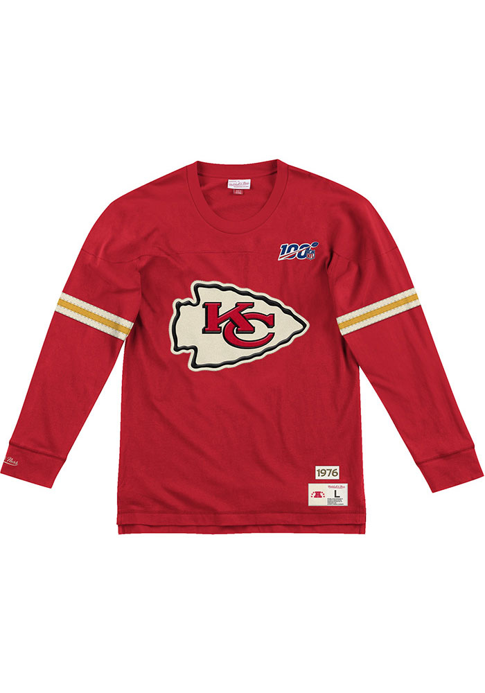 Kansas City Chiefs Mens Red Team Inspired Big and Tall Crew Sweatshirt - Image 1