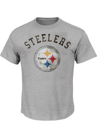 Pittsburgh Steelers Arched Wordmark T-Shirt - Grey