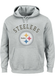 Pittsburgh Steelers Arched Wordmark Hooded Sweatshirt - Grey
