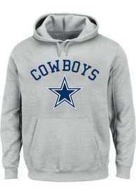 Dallas Cowboys Arched Wordmark Hooded Sweatshirt - Grey