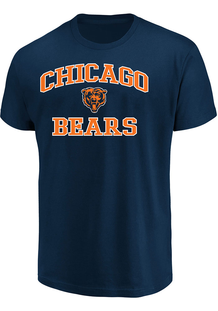 Chicago Bears Mens Grey Team Color Big and Tall T-Shirt - Image 1