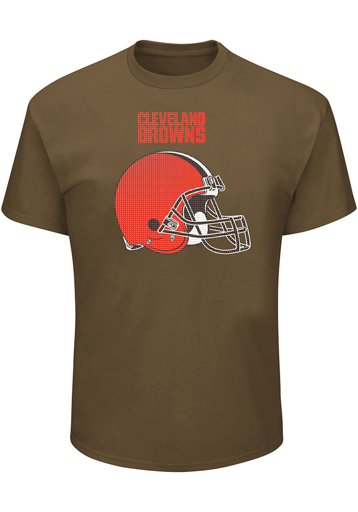 Cleveland Browns Mens Brown Screen Tee Big and Tall T-Shirt - Image 1