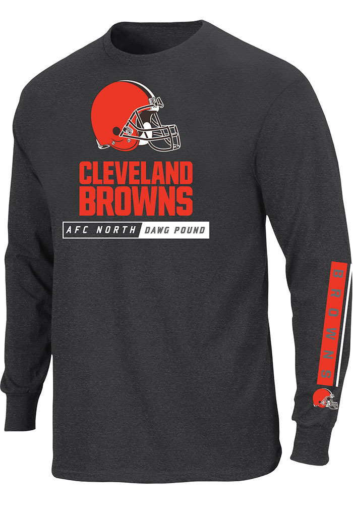 Cleveland Browns Mens Brown Hit Tee Big and Tall Long Sleeve T-Shirt - Image 1