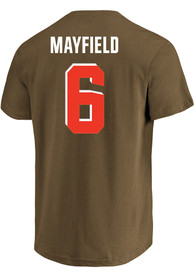 Baker Mayfield Cleveland Browns Profile Name and Number Player Tee - Brown