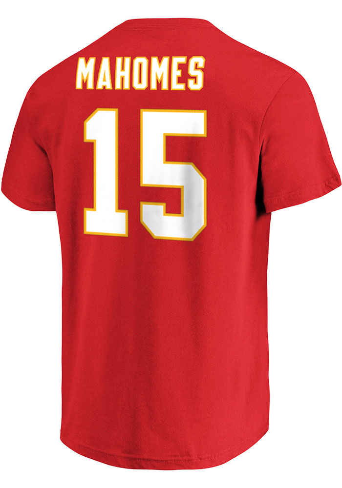 Patrick Mahomes Kansas City Chiefs Mens Name And Number Big and Tall Player Tee - Red - Image 1
