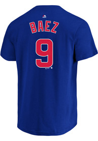 Javier Baez Chicago Cubs Mens Name # Big and Tall Player Tee - Blue